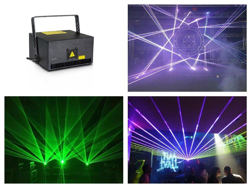 flightcase + Big power Laser 6W RGB Animation Laser show Stage Light disco Analog 30k 40Kpps scanner Auto/DMX512/Sound/ILDA/SD