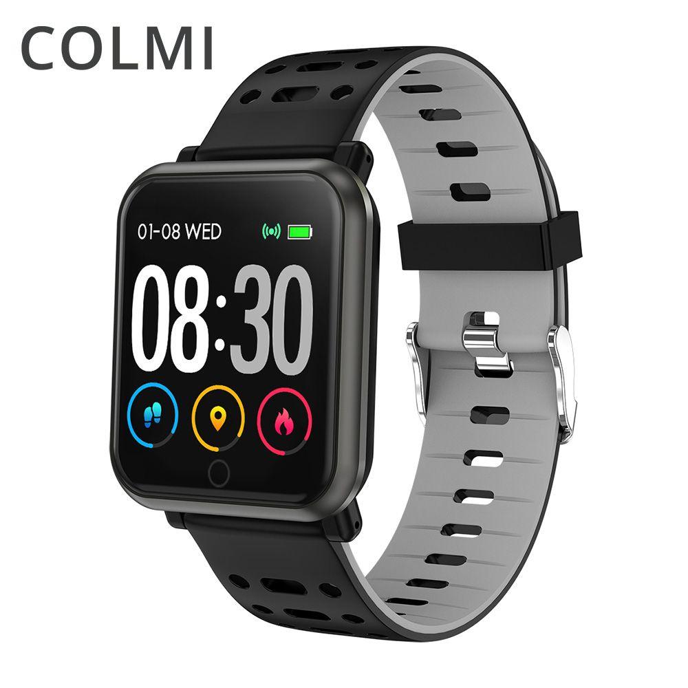 COLMI CP11 montre intelligente IP68 étanche moniteur de fréquence cardiaque tracker Fitness hommes natation Smartwatch pour iPhone Android téléphone