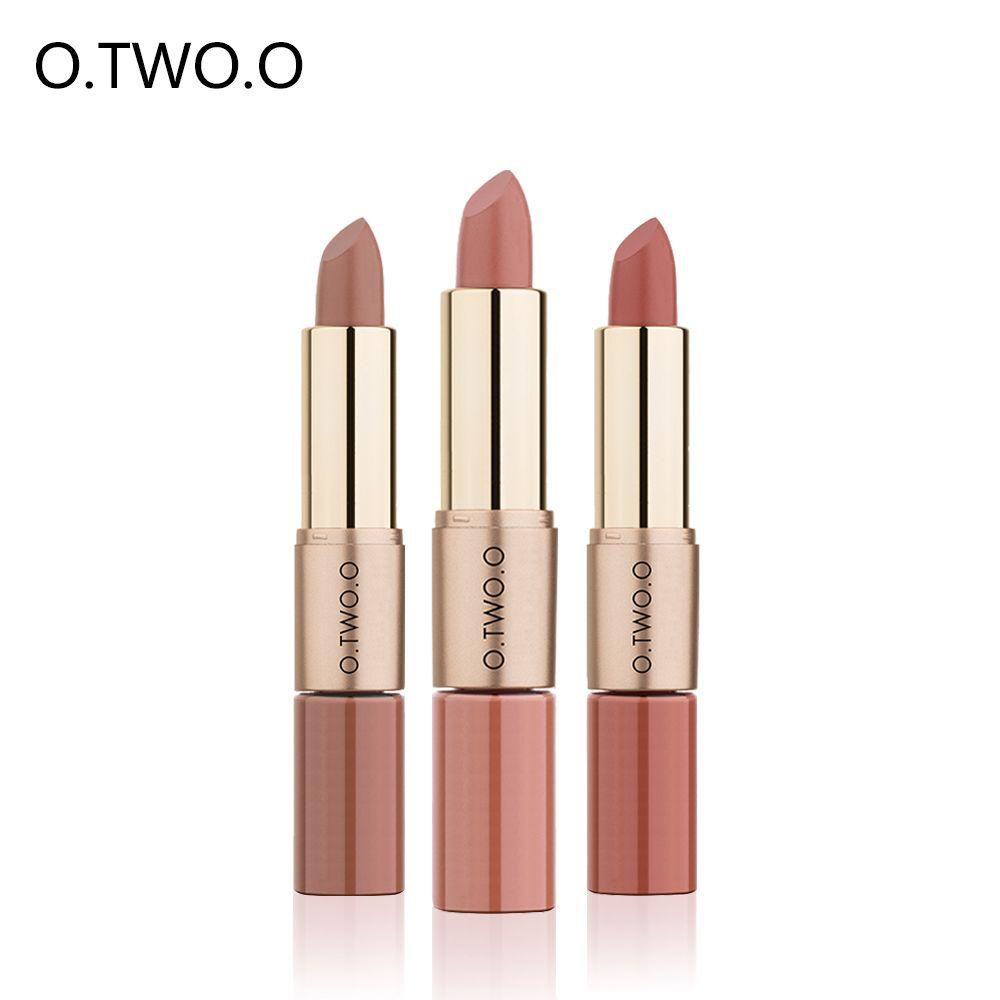 O. TWO. O rouge à lèvres mat brillant à lèvres 2 en 1 rouge à lèvres liquide facile à porter longue durée hydratant imperméable antiadhésif tasse 12 couleurs