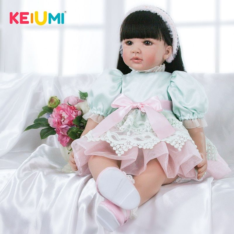Limited Collection 24 Inch Reborn Doll Girl 60 cm Silicone Soft Vinyl Realistic Baby Dolls For Sale Kid Birthday Christmas Gifts