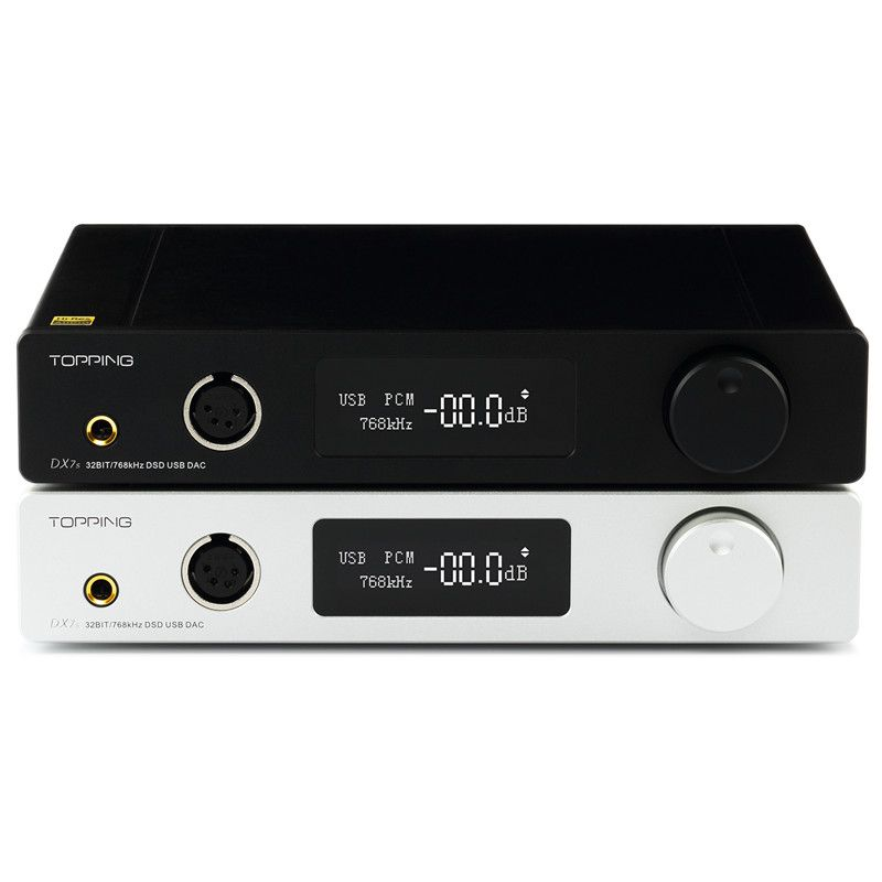 TOPPING DX7s Full Balanced DAC & Headphone Amplifier Decoder Support 32BIT/768k DSD512 native 1000mW*2@32ohm