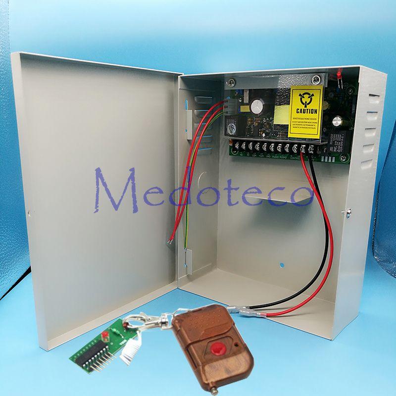 DC12V5A función de respaldo de batería Interruptor fuente de Alimentación AC110 ~ 260 V fuente de Alimentación con caja de metal de Alimentación de Control de Acceso unidad de suministro