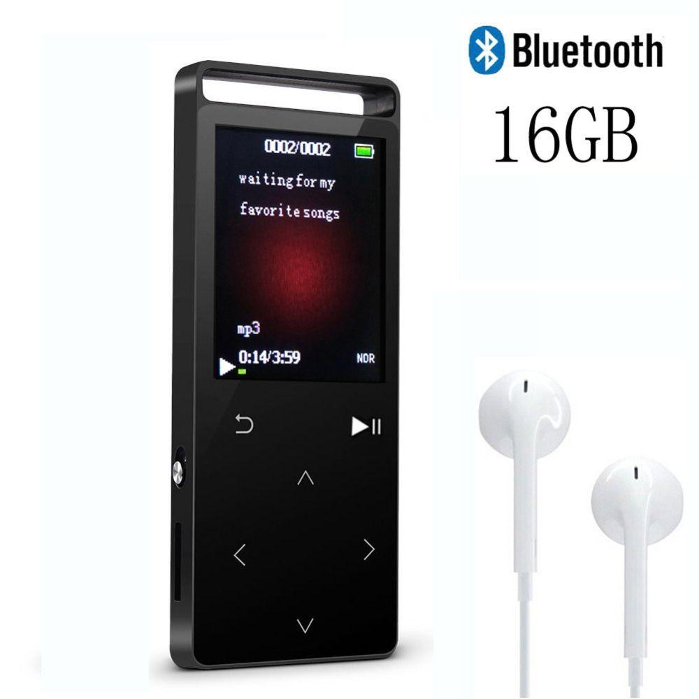 MP4 Player mit Bluetooth 4,0, 16 gb Verlustfreie Touch Taste MP3 Musik-Player mit FM Radio Voice Record-Unterstützung 64 gb Micro SD Karte