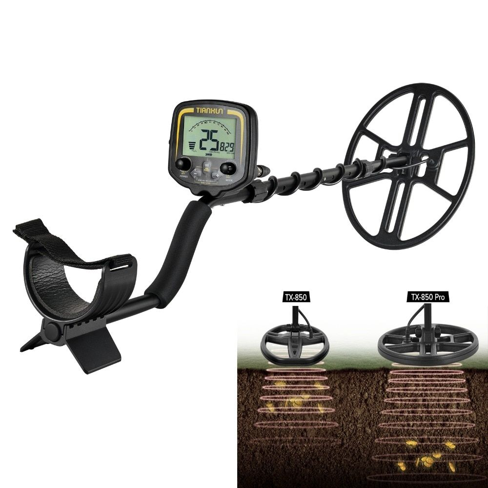 TX-850 Pro With 14'' Big Coil Professional Underground Metal Detector Test Deeper Scanner Gold Digger Treasure Hunter Detecting