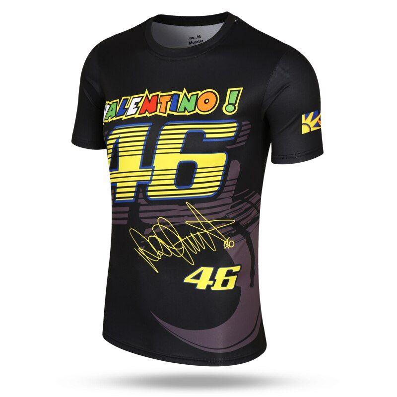 New Fashion Valen Rossi 46 Sports T-shirt Moto GP The Doctor VR46 quick dry t-shirt Lovely Watchdog pattern Shirts & Jersey