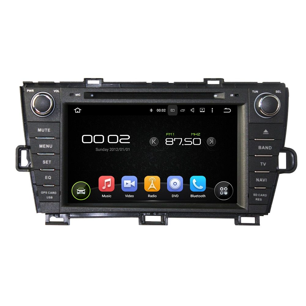 Navirider Android 8.0 radio tape recorder octa Core 4GB RAM 32GB rom with IPS screen for TOYOTA PRIUS 2009-2013 RHD head unit