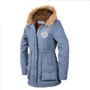 TEMOFON Лидер продаж Для женщин тонкий пальто парка одноцветное Новая мода с капюшоном Для женщин повседневные куртки длинные зимние Теплая па...