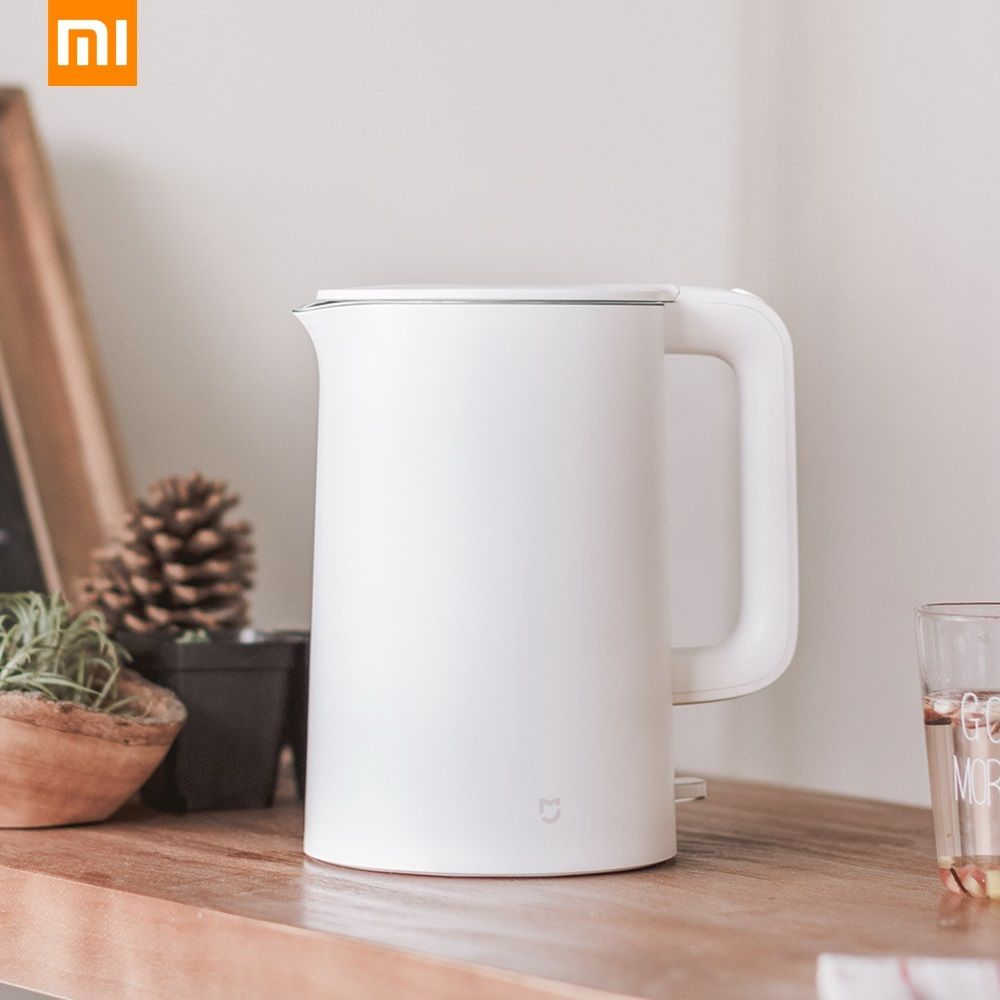 Original Xiaomi Mijia Mi Electric Water Kettle 1.5L Auto Power-off Protection 304 Stainless Steel Inner Layer Fast Boiling 220V