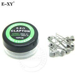E-XY RDA Prebuild Coil Clapton Alien Tiger Quad Hive Flat twisted Mix twisted staircase Heating Resistance Wire Vape Mod 10pcs
