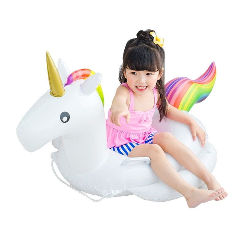 2017 New Baby Swimming Ring Unicorn <font><b>Seat</b></font> Inflatable Unicorn Pool Float Baby Summer Water Fun Pool Toy Kids Swimming float