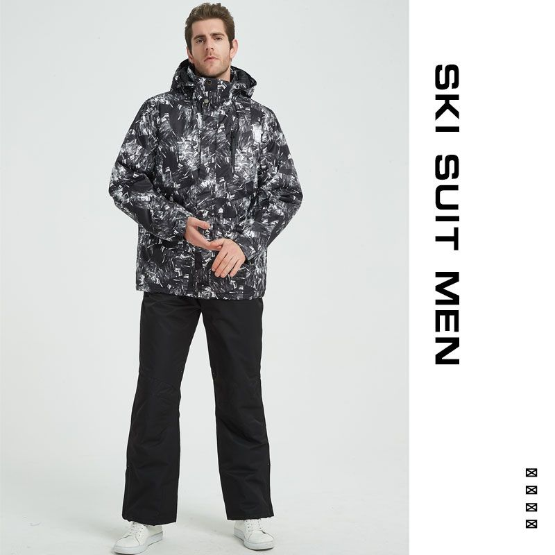Ski Suit Men Winter 2018 Thermal Waterproof Windproof Clothes Snow pants Ski Jacket Men Set Skiing And Snowboarding Suits Brands