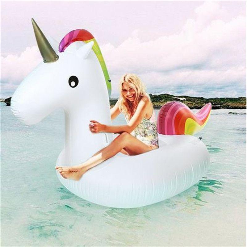 275 cm géant licorne gonflable Air canapé Air matelas Pro flottant Rideable flotteur radeau piscine jouet pour vacances plage anneau