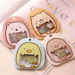 50 Pcs/lot(1 Bag) Diy Cute Cartoon Kawaii Pvc Stickers Lovely Cat Bear Sticker For Diary Decoration Free Shipping