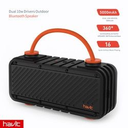 HAVIT Waterproof Shockproof Outdoor Bluetooth Speaker 20W Dual Driver Wireless 4.2 Portable Sport Speaker Support Power Bank M22
