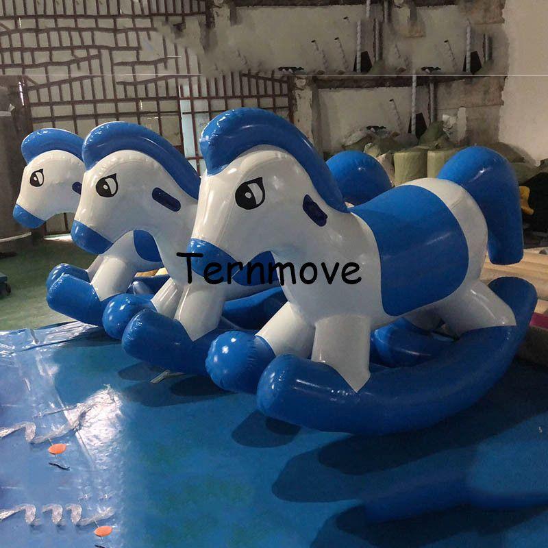 Aufblasbare hobby horse Air schaukelpferd Aufblasbare park cartoon air schaukel spielzeug tier aufblasbare cock-pferd, schaukel pferd