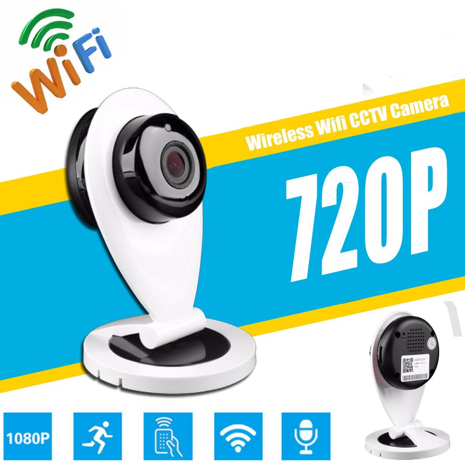 Card Appearance 720P WiFi Mini Baby Monitor Wireless IP Camera PTZ P2P Surveillance Security Monitor Remote monitoring V380 APP