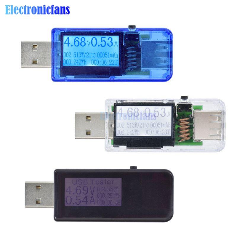 Mini 12 in 1 USB Tester LCD Digital Voltmeter Spannung Strom Amperemeter Power Leistung meter detektor power bank ladegerät werkzeuge