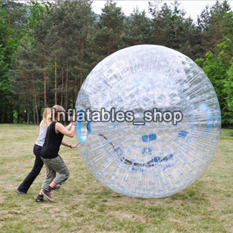 Kostenloser Versand Riesen Transparent Erwachsene Aufblasbare Zorb Kugel/Körper Zorb Ball Für Outdoor-Gras Spiel 2,5 m Durchmesser