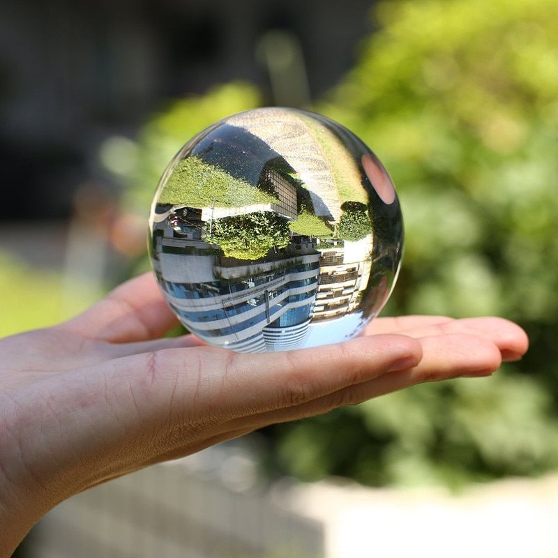 50mm/60mm/70mm/80mm/100mm Crystal Ball Photography Asian Quartz Glass Marbles Sphere Clear Globe Props Photography Accessiores
