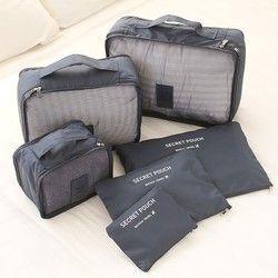 6 قطعة الرجال والنساء السفر حقيبة الملابس الداخلية الصدرية التعبئة مكعب الأمتعة المنظم الحقيبة الأسرة خزانة مقسم المنظم أكياس