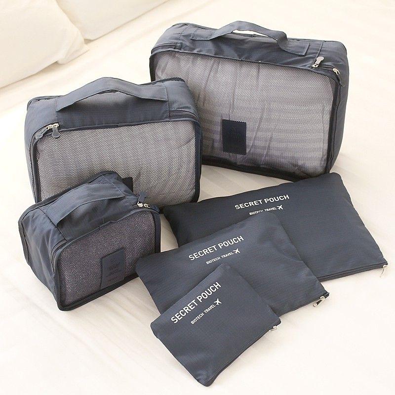 6 pièces hommes et femmes voyage sac vêtements sous-vêtements soutien-gorge emballage Cube bagages organisateur pochette famille placard diviseur organisateur sacs