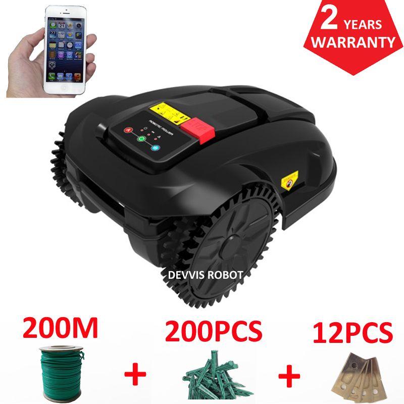 Europa Lager Roboter Rasenmäher E1800S für Kleine Garten, Smartphone WIFI APP Control, Wasser-Proofed ladegerät, auto Aufladen
