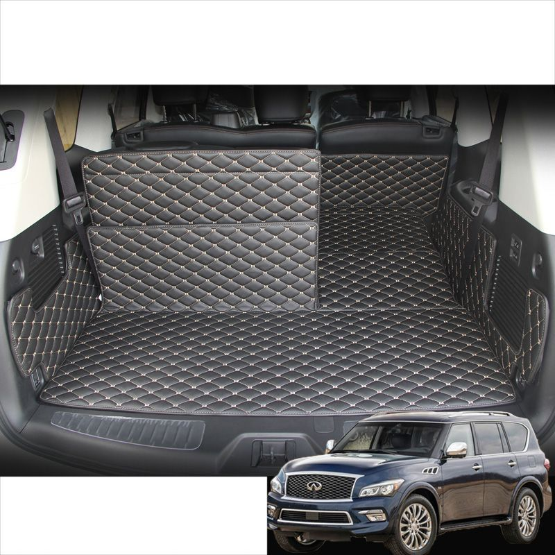 lsrtw2017 fiber leather car trunk mat cargo mat for infiniti qx80 qx56 Z62 2010 2011 2012 2013 2014 2015 2016 2017 2018 2019