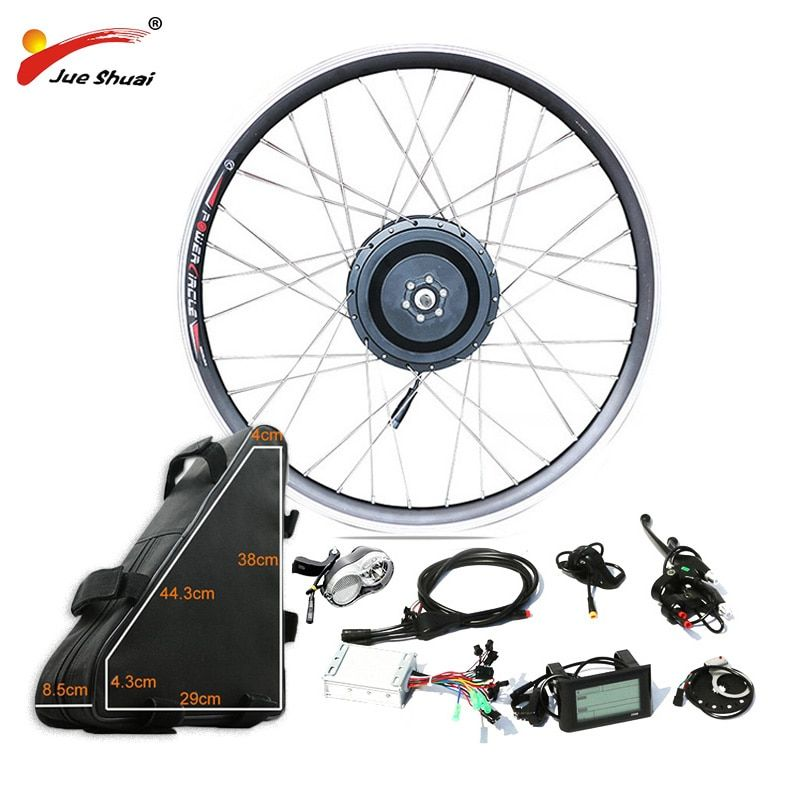 48V 500W Powerful Electric Bike Conversion Kit Hub Motor Wheel with 48V20AH High Capacity Battery for 26