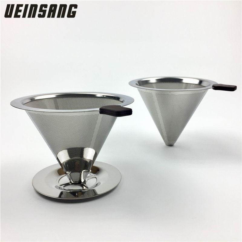 Filtre à café réutilisable conteneur en acier inoxydable maille métallique entonnoir paniers Drif filtres à café goutteur v60 goutte à goutte café filtre tasse