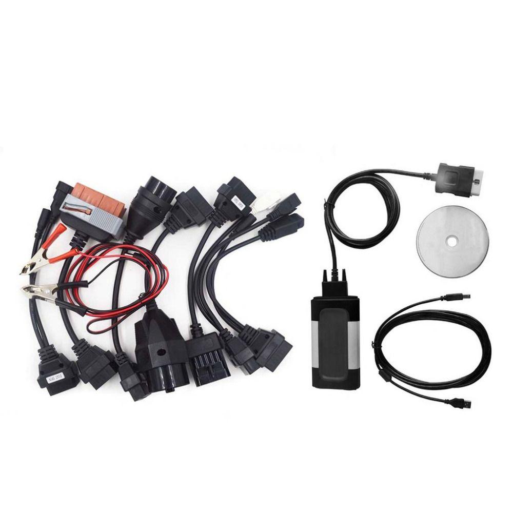 Professional Auto Car Bluetooth TCS CDP Pro Plus for Autocom OBD2 Diagnostic Tool + 8Pcs Car Diagnostic Cables Set Drop Shipping