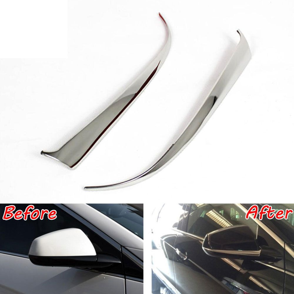 2x Car Side Mirror Rearview Mirrors Cover Trim Car-styling Sticker Fit for Cadillac SRX 2010-2016 Stainless Auto Decoration