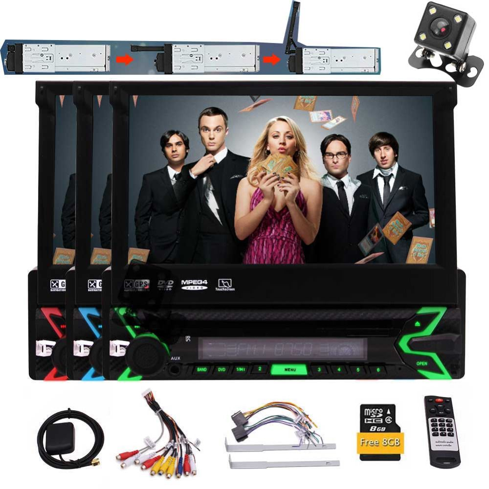 Free Map Card Auto Radio Built-in Microphone Bluetooth With Remote Control Eincar In Dash Single Din Car Stereo Auto Radio 7
