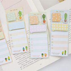 NOVERTY Kawaii Cactus nota pegajosa Nota de papel del cojín del planificador marcador lista papelería de oficina 01945