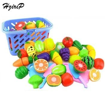 Hot Sale Children Pretend Play Kitchen Toy Set Fruit Safety Plastic Vegetables Kitchen Baby Classic Kids Educational Toys
