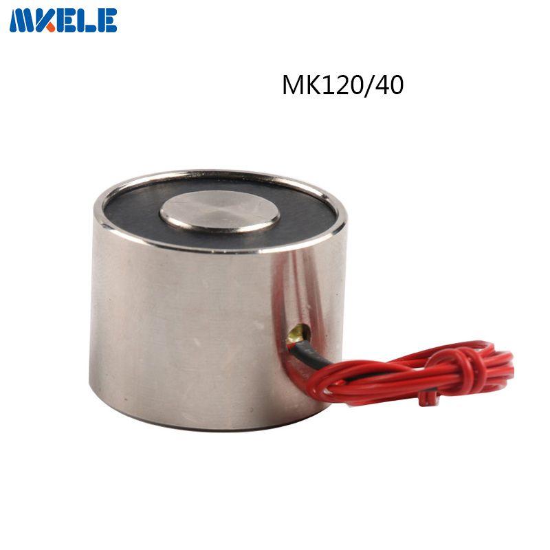 MK120/40 Halten Elektrische Magnet Hebe 200 KG/2000N Magnet Sucker Elektromagneten DC 6 V 12 V 24 V nicht-standard-brauch