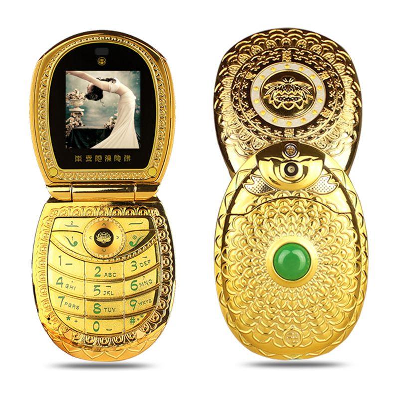 Mafam U1 Flip <font><b>Russian</b></font> Keyboard Arabic Lotus Flower Jade Buddha FM MP3 MP4 Luxury Women Lady Gift Dual Sim Mobile Cellphone P512