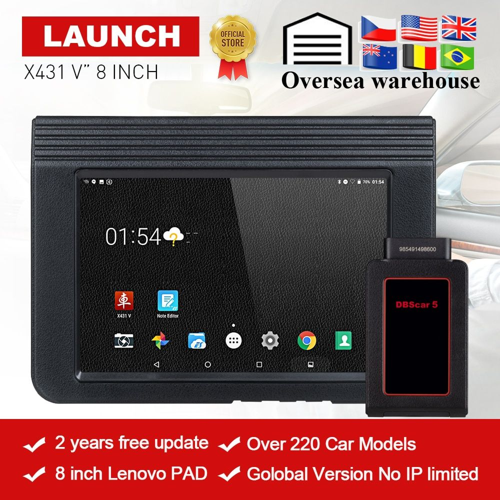 LAUNCH X431 V Bluetooth/Wifi OBD2 Full System Car Diagnostic Tool 8inch X-431 V X431 Pro Mini Car Scanner 2 years free update