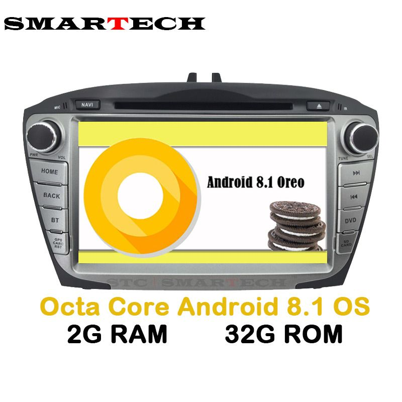 SMARTECH 2Din Octa Core Android 8.1 For Hyundai IX35 Tucson Car Radio Video Player Car Recorder Head Unit GPS Navigation Wifi