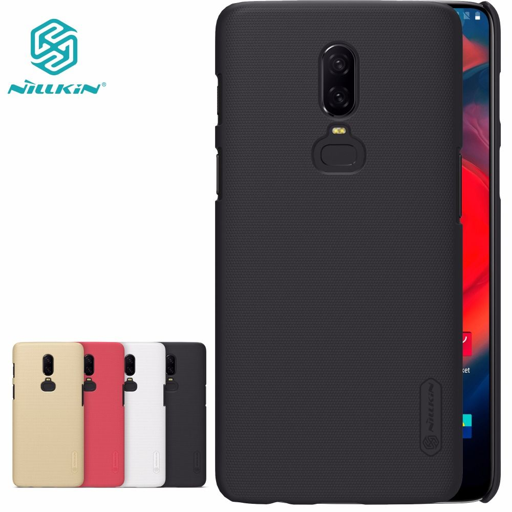 Oneplus 6 case One plus 5 5T 3 T Cover NILLKIN Super Frosted Shield hard back cover case gift screen protector