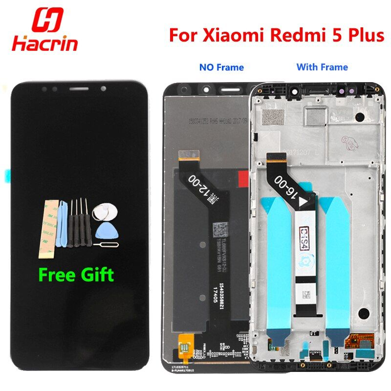 Xiaomi Redmi 5 Plus LCD Display Touch <font><b>Screen</b></font> 100% New FHD 5.99 Digitizer Assembly Replacement Accessory For Redmi5 Plus