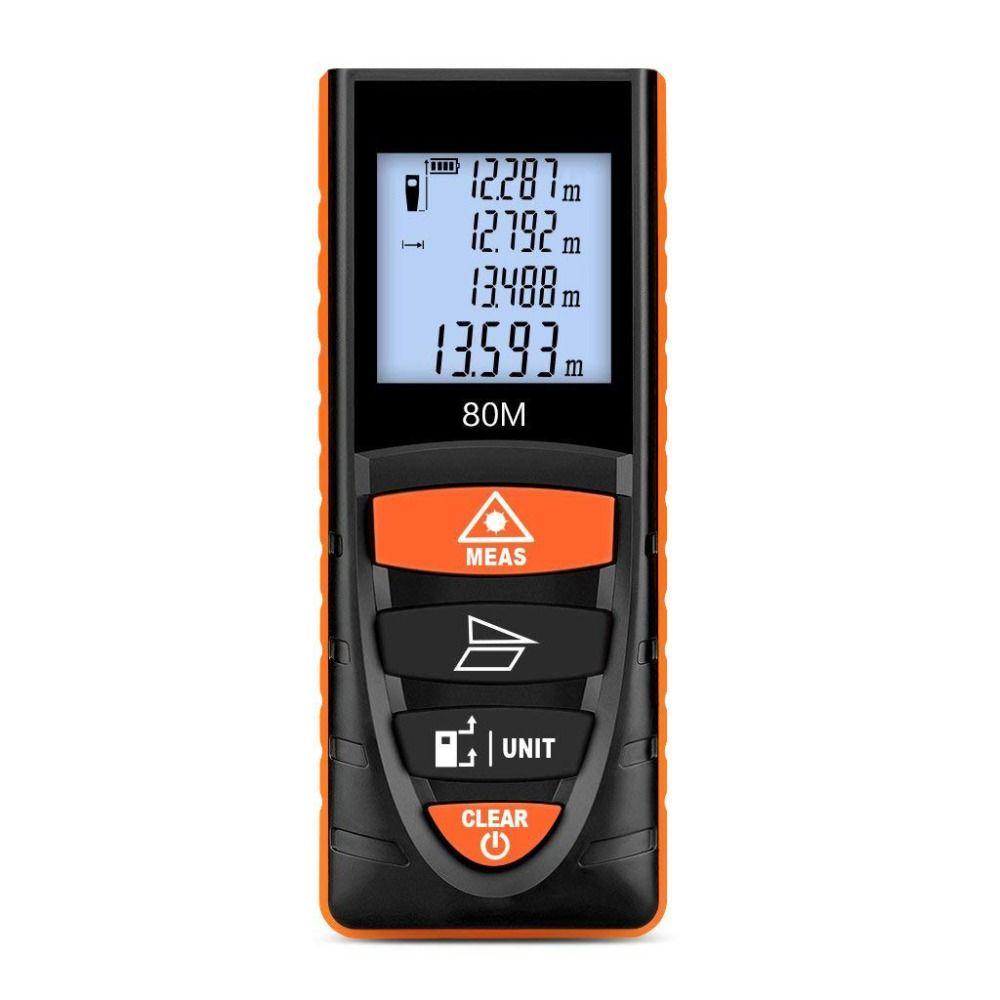 laser distance meter 40M 80M rangefinder trena laser range finder tape measure device ruler test tool