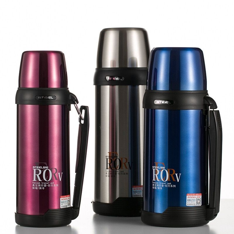 304 Stainless Steel Insulated Water Bottle Vacuum Flasks Thermoses Coffee Travel Mug Termos Thermal Cup Tumbler Thermos Bottle