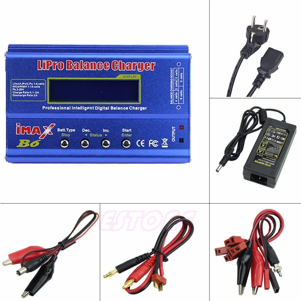 iMAX B6 AC Lipo NiMh Li-ion Ni-Cd RC Battery Balance Charger Discharger EU Plug Z09 Drop ship