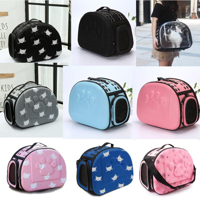 YUYU Cat Carrier Bag Outdoor Dog Carrier Bag <font><b>Foldable</b></font> EVA Pet Kennel Puppy Dog Cat Outdoor Travel Shoulder Bag for Small Dog