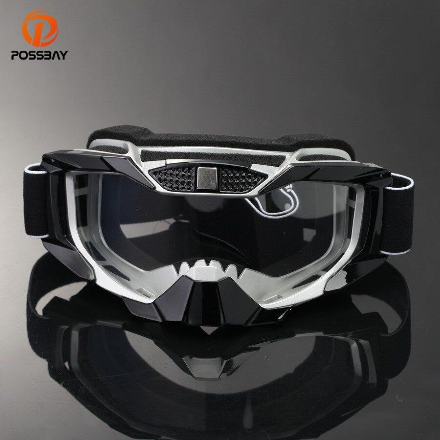 POSSBAY Motorcycle Glasses Snowboard Ski Goggles Racing Motocross Goggles Cafe Racer Dirt Bike Outdoor Sport Culos Moto Gafas