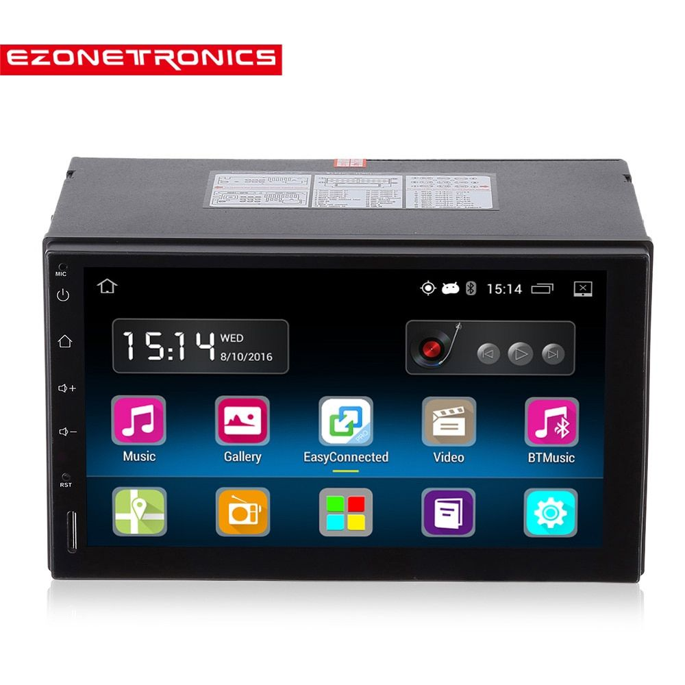 2din Android 5.1 Car Radio Stereo 7 inch Capacitive Touch Screen High Definition 1024x600 GPS Navigation Bluetooth USB SD Player