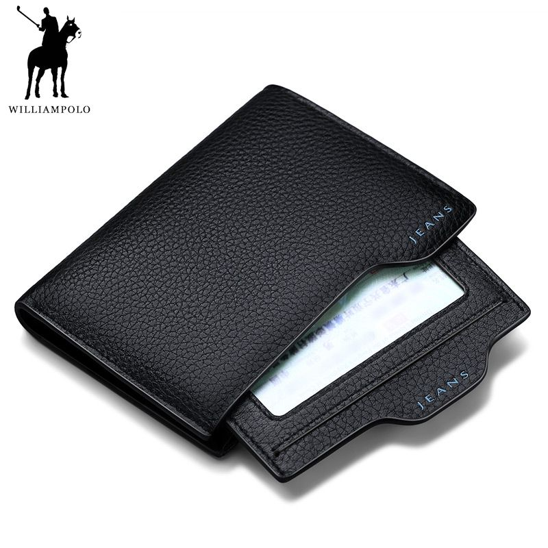 TIME LIMITED SELL WILLIAMPOLO Genuine Leather Driving License Wallet Calfskin Leather Pattern Wallet Men PL146