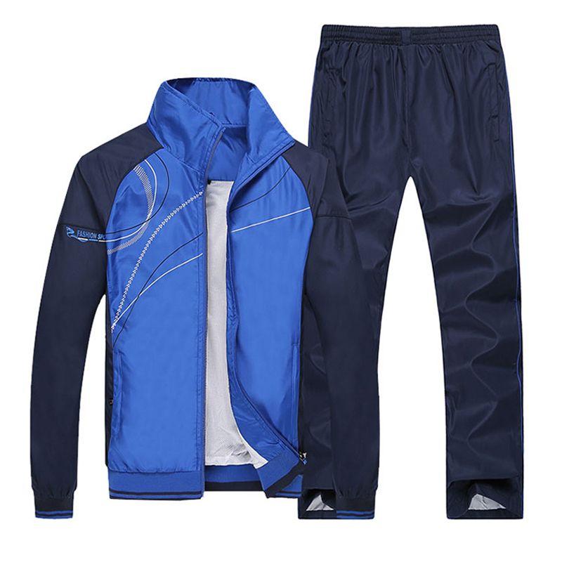 Männer Laufende Sets Fitness Sportwear Herbst Winddicht Tischtennis Badminton Trainingsanzüge Sport Training Jogging Jogger Anzüge
