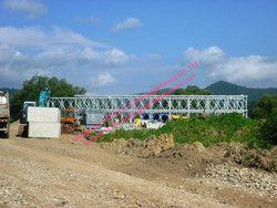 Préfabriqués En Acier Bailey Pont Modulaire Conçu Temporaire D'urgence Mabey Ponts Panneau Galvanisé