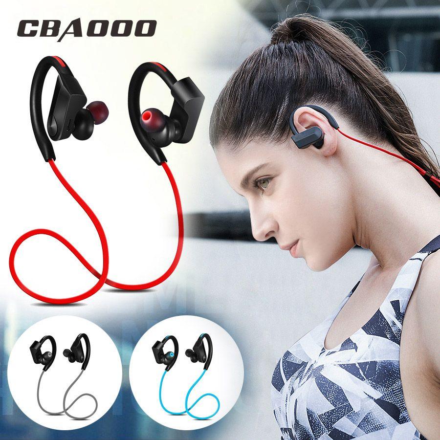CBAOOO Sport casque bluetooth sans fil écouteur bluetooth Étanche réduction du bruit avec Microphone pour android ios
